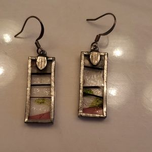 Jewelry - Stain glass hand made earrings